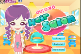 Играть Парикмахерская онлайн флеш игра для детей