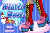 Играть Зимние сапоги онлайн флеш игра для детей