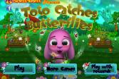 Играть Тото ловит бабочек онлайн флеш игра для детей