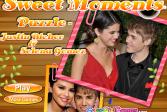 Играть Джастин Бибер и Селена Гомез онлайн флеш игра для детей