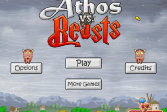 Играть Атос против зверей онлайн флеш игра для детей