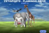 Играть Полёт фламинго онлайн флеш игра для детей