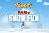 Играть Марио снежная забава онлайн флеш игра для детей