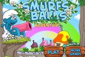 Играть Приключение мячей Смурфов онлайн флеш игра для детей