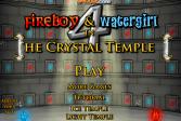 Играть Огонь и Вода в Хрустальном Храме онлайн флеш игра для детей