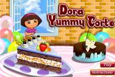 Играть Вкусный торт от Доры онлайн флеш игра для детей