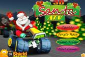 Играть Санта ATV 3D онлайн флеш игра для детей