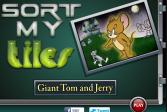 Играть Собрать гигантский пазл Том и Джери онлайн флеш игра для детей