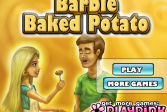 Играть Барби и жареная картошка онлайн флеш игра для детей