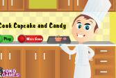 Играть Приготовление конфет и кексов онлайн флеш игра для детей