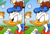 Играть Дональд Дак и бурундуки: найди отличия онлайн флеш игра для детей
