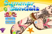 Играть Летние босоножки онлайн флеш игра для детей