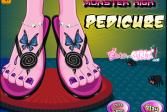 Играть Монстр высокий педикюр онлайн флеш игра для детей