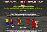 Играть Пенальти Санты онлайн флеш игра для детей