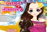 Играть Причёска на Рождественскую вечеринку онлайн флеш игра для детей