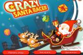 Играть Сумасшедшие гонки Санты онлайн флеш игра для детей