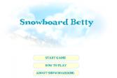 Играть Бетти сноубордистка онлайн флеш игра для детей