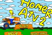 Играть Симпсон Гомер на мотовездеходе онлайн флеш игра для детей