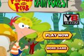 Играть Финес и Ферб в дождливом лесу онлайн флеш игра для детей
