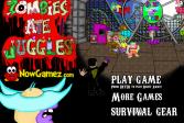 Играть Зомби и фокусы онлайн флеш игра для детей