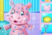 Время купания малыша бегемота Baby Hippo Bath Time