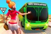 Симулятор вождения пассажирского автобуса на такси Passenger Bus Taxi Driving Simulator