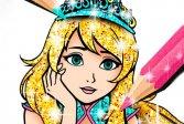 Блестящие Раскраски Принцессы Princess Coloring Book Glitter