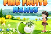 Найдите названия фруктов Find Fruits Names