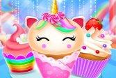 Дизайн приготовления кекса с единорогом и русалкой Unicorn Mermaid Cupcake Cooking Design