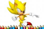 Соник-раскраска Sonic Coloring Book