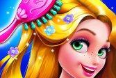 Парикмахерская принцессы с длинными волосами Long Hair Princess Hair Salon