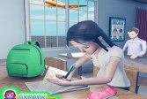 Виртуальная игра для старшеклассниц - Симулятор школы 3D Virtual High School Girl Game- School Simulator 3D