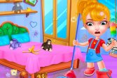 Игра по уборке кукольного домика Baby Doll House Cleaning Game