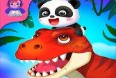 Планета динозавров маленькой панды - Игра онлайн Baby Panda's Dinosaur Planet - Game online