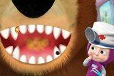 Маша и Медведь Игра стоматолога Masha And The Bear Dentist Game