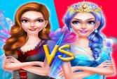Наряд Феи Принцесс против Макияжа Ведьмы Fairy Princess Dress Up VS Witch Makeup
