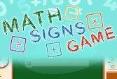 Математические знаки игры Math Signs Game