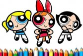 Раскраска Суперкрошки Powerpuff Girls Coloring