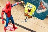 Супер Губка Боб Человек-Паук Super spongebob spiderman