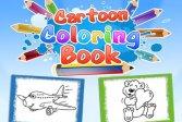 Книжка-раскраска из мультфильмов Cartoon Coloring Book Game