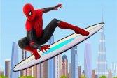Скейтбординг Человек-Паук Spiderman Skateboarding