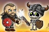 Игра викингов против скелетов Vikings VS Skeletons Game