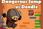Опасный прыжок против Doodle Jump Dangerous Jump vs Doodle Jump