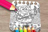 Губка в бегах Книжка-раскраска Sponge on the Run Coloring Book