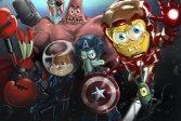 Губка Боб Железный Человек Spongebob Ironman