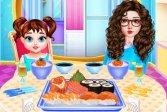 Бэби Тейлор готовит суши Baby Taylor Sushi Cooking