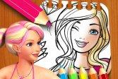 Книжка-раскраска кукла Барби Barbie Doll Coloring Book