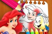 Книжка-раскраска Русалочка The Little Mermaid Coloring Book