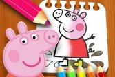 Раскраска Свинка Пеппа PeppaPig Coloring Book