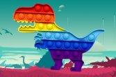 Пазл с динозавром Dinosaur Pop It Jigsaw